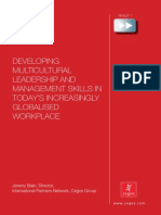 Developing MultDeveloping Multicultural Leadership and Management Skills in Today's Increasingly Globalised Workplaceicultural Leadership and Management Skills in Today's Increasingly Globalised Workplace-111110083716-Phpapp01