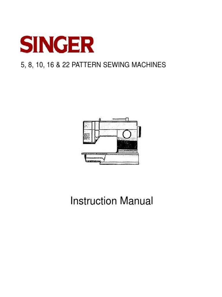 Singer 9020 instruction book.