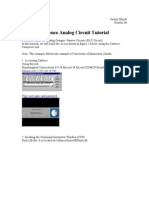 Analog Circuit Simulation Using Virtuoso