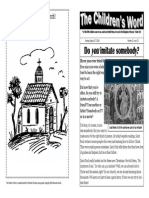 The Children's Word bulletin for Sunday, August 17, 2014