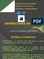 CAP 1 ESTRUCTURA ATÓMICA QMC 101 TEMA PRIMERA PARTE.ppsx