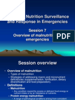 Session 7 - Overview of Malnutrition in Emergencies