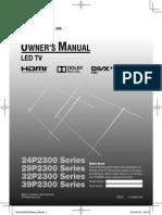Toshiba 32P Manual