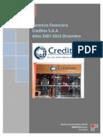 CREDITEX S.a.a Gerencia Financiera1