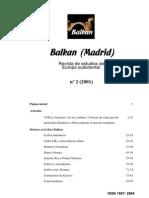 Balkan (Madrid) 2 (2001)