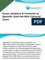 Causes, Symptoms & Treatments of Appendix- Quah Hak Mein Colorectal Centre