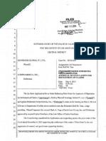 Superior Court Order in Favor of Ironridge Global IV, Ltd.