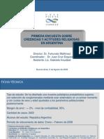 Informe Final Creencias y Actitudes Religiosas en Argentina