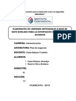 Plan de Negocio Lamparas Artesanales (Exportación)