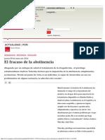 (2014) El Fracaso de La Abstinencia (Revista Qué Pasa) [Andrew Tatarsky]