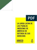 Informe Amnistia Internacional Pueblos Indígenas América
