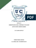 Capitulo 3 Ensayo Administracion Global Comparada y de Calidad
