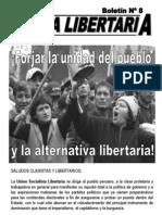Lucha Libertaria, USL - Perú (Boletin8)
