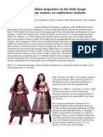 The influence of fashion magazines on the body image satisfaction of college women