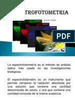 Exposición de Espectrofotometría