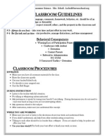 classroom rules procedures handout