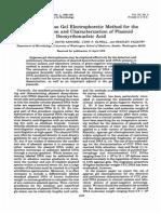 Simple Agarose Gel Electrophoretic Method for the Identification and Characterization of Plasmid