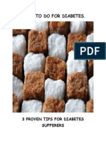 What to Do for Diabetes