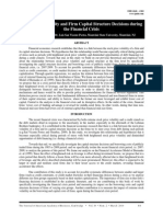 Stock Price Volatility and Firm Capital Structure Decisions During the Financial Crisis