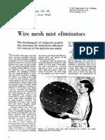 Wire Mesh Mist Elim.