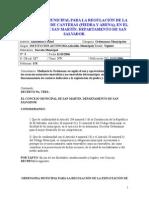 Ordenanza Municipal Para La Regulación de La Explotacion de