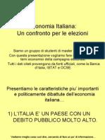 Economia Italiana - Un confronto per le elezioni