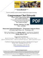 Fundraising Reception for Chet Edwards