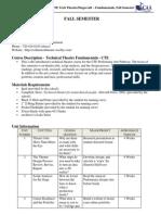 tech fundamentals - syllabus - fall