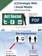 (Mínima) Estrategia Web  y de Social Media