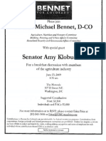 Breakfast Discussion with Members of the Agriculture Industry for Michael Bennet