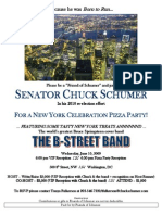 "VIP/Pizza Party Reception for Charles Ellis ""Chuck"" Schumer"