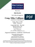 Coffee for Mike Coffman