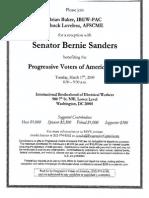 Reception for Progressive Voters of America PAC