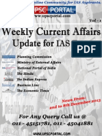 Weekly Current Affairs Update for IAS Exam 2nd December 2013 to 8th December 2013