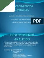 Procedimientos Contables y Valuacion de Inventarios