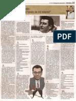 DARIO JARAMILLO AGUDELO por Rubén Wisotzki.  coreo del orinoco, 20 de julio 2014. pag 23. La palabra que te (D)escribe. N°1740. literatura