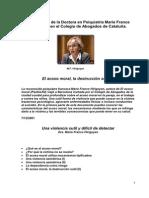 Hirigoyen, Marie France-(Conferencia) - El Acoso Moral