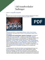 Accidente Del Transbordador Espacial Challenger