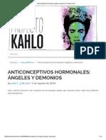 Anticonceptivos Hormonales_ Ángeles y Demonios _ Proyecto Kahlo