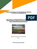 Plan Para La Reducción de La Vulnerabilidad Ante Desastres en Cines, Estadios y Otros Espacios de Concentración