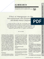 Effects of Manganese in Weld Metal