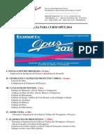 Manual de Curso Opus 2014