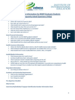 Pre-Departure Information for BSMP Graduate Students Frequently Asked Questions (FAQs)