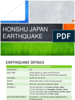 Honshu Japan Earthquake