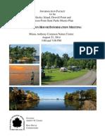 Wellesley Island Park Meeting Packet