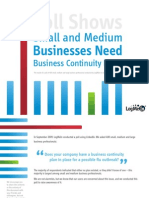 Small and Medium Businesses need a business continuity plans