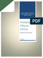 Changing to VMware PVSCSI