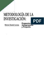 Metodologia de La Investigacion Hector Daniel Lerma