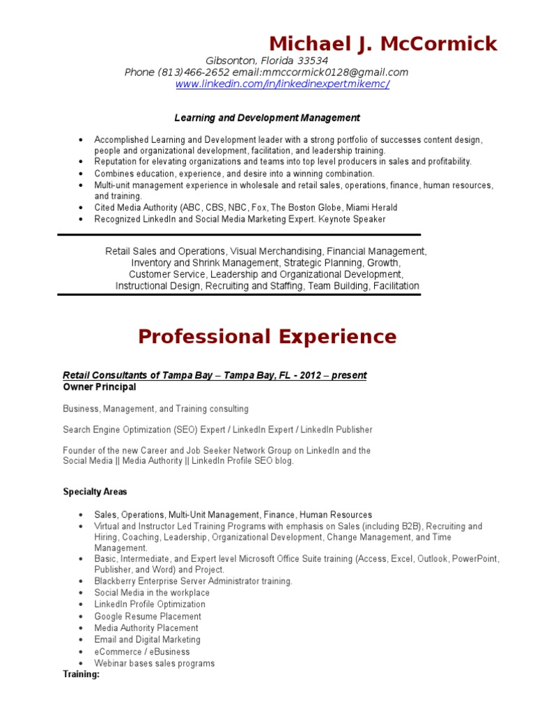 Corporate Sales Training Manager In Tampa Fl Resume Doc Linked In T Mobile Us