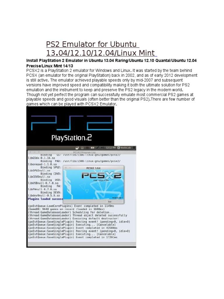 PS2 Emulator for Ubuntu 13 04 12 10 12 04 Linux Mint